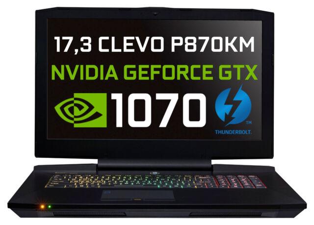 BAREBONE CLEVO P870KM MAX i7-7700K NVIDIA GTX 1070 VR THUNDERBOLT 500GB GRATIS
