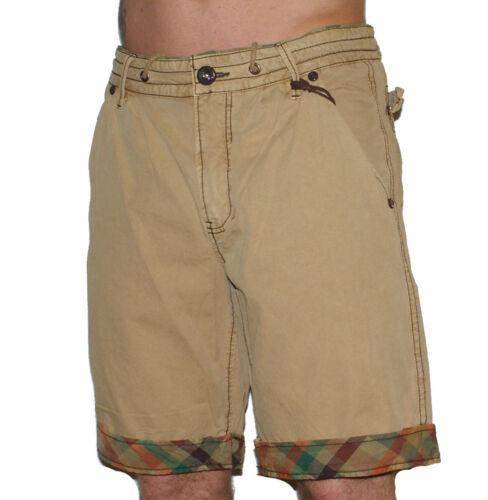 JET Lag Cargo Pantaloncini Uomo Beige a Quadri Cargo Pantaloncini Uomini Pantaloni Corti