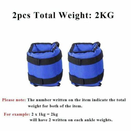 und Handgelenke 1-6kg DHL 1 Paar Gewichtsmanschetten Laufgewichte für Fußgelenk
