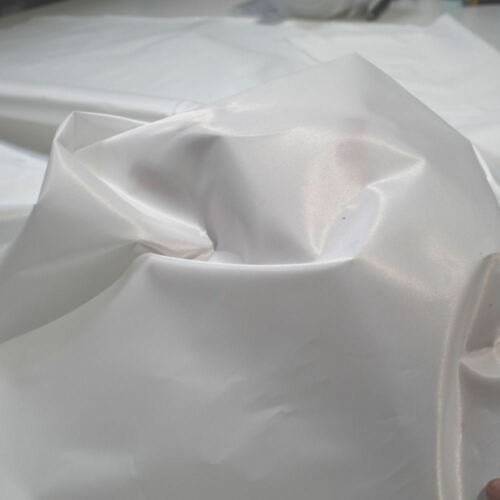 Satin Dekostoff Sonnenschutz Sichtschutz Abdeckstoff Kleiderstoff Meterware weiß