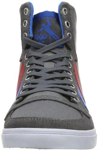 Hummel Stadil más Delgado Alto [ Talla 36/38 ] Sneaker Gris Nuevo y Emb. Orig.