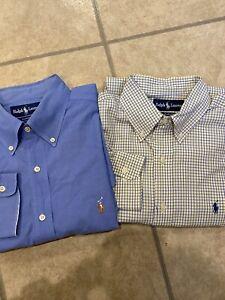 Details about 2 Ralph Lauren Mens Dress Shirt 16 - 33 Yarmouth Pinpoint Oxford