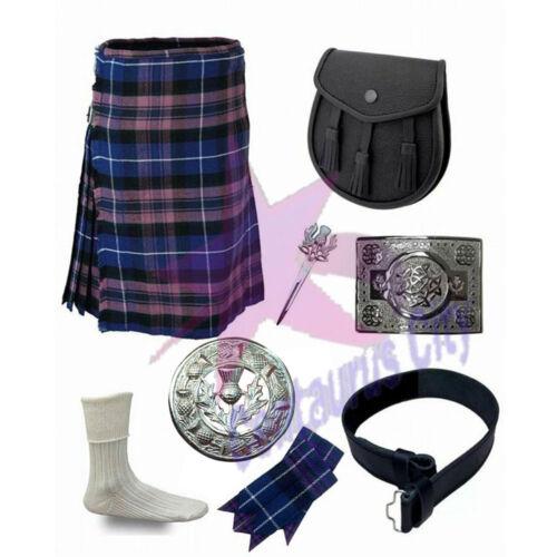 environ 453.58 g CC Men/'s Scottish Pride of Scotland 8 Yd Highland Tartan 16 oz environ 7.32 m Kilt Ensemble 8 Pièces