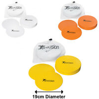 Precision Training 19cm Flat Round Football Markers - Cheap Set Of 20 Discs