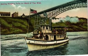 Vintage Postcard - Posted 1913 Maid Of The Mist Niagara Falls New York NY #3703