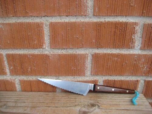 "Vintage 5 1/2"" Blade *** EKCO - FLINT *** Small Serrated Chef Knife USA"