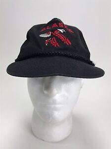 Vintage Alaska Inuit Indian Tribal Eagle Black Red SnapBack Hat Cap Cool