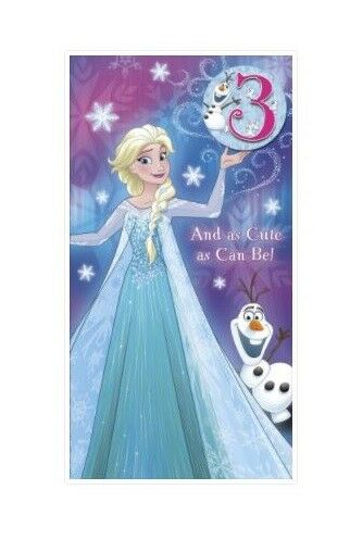 Disney Frozen Birthday Card Or Wrap Age 3 4 5 6 7 8 Daughter Sister