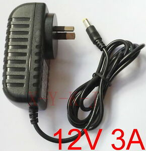 Details about AC 100V-240V Switching Power Supply DC 12V 3A adapter 36W  3000mA AU plug 5 5mm