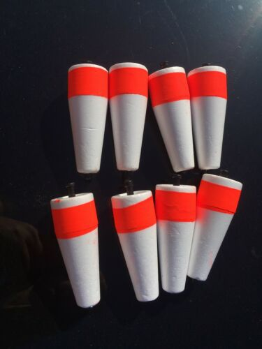 8 Quality 3 in Foam Popping Corks Adjustable Weighted Float Fishing Redfish Rig