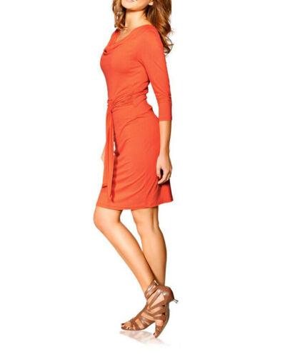 A137.288# NEU Gr Heine orange Kleid 42
