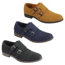 f24ae5e9654c51 item 2 Mens Suede Leather Monk Shoes Double Strap Smart Classic Retro  Casual Slip on -Mens Suede Leather Monk Shoes Double Strap Smart Classic  Retro Casual ...