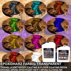 Epoxidharz 2K EpoxyPlast Transparent farbig Gießharz Schmuck Rivertisch Epoxy
