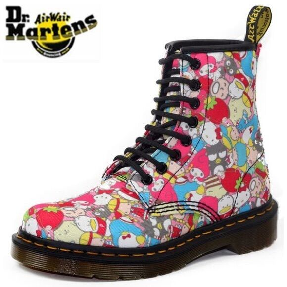 DOC DR MARTENS SANRIO HELLO KITTY BOOTS RARE 2010 LIMITED EDITION NEW 5UK US:W7