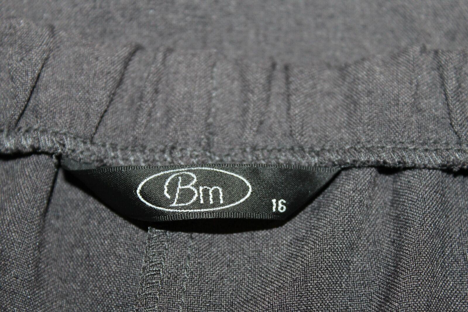 Bm - Us 12 (L) - - - Nuova con Etichetta - Tinta Unita Grigio con Pieghe Dritto 11ce01