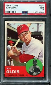 1963-Topps-Baseball-404-BOB-OLDIS-Philadelphia-Phillies-PSA-7-NM
