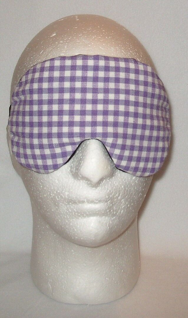 Handmade Handmade Handmade Purple Gingham Coton sommeil Masque Yeux Bandeau Hen Stag Blackout 7a228c