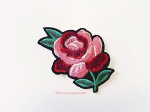 Embroidered Applique Black Iron On Patch DIY Clothing Designs 7 (GB502)