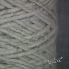 THICK ARCTIC SNOWY OWL RUG WOOL LARGE 400g CONE CREAM NATURAL ECRU CARPET YARN