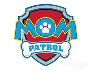 47e1789b PAW PATROL * MOM***FABRIC/T-SHIRT IRON ON TRANSFER | eBay