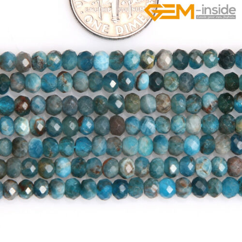 """Natural AAA Faceted Gemstone Rondelle Heishi Spacer Beads Jewellery Making 15/""""CA"""
