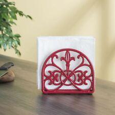 Home Basics Cast Iron Fleur De Lis Cookbook Stand Red