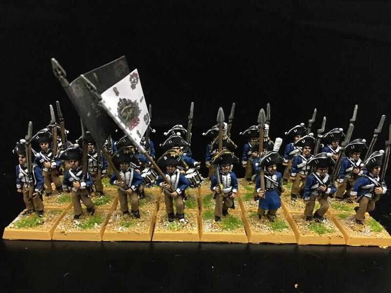 1 56 28mm napoleónicas Departamento de Guerra de seguridad pública Pintado temprano prusiano Mosquetero Regimiento RC883