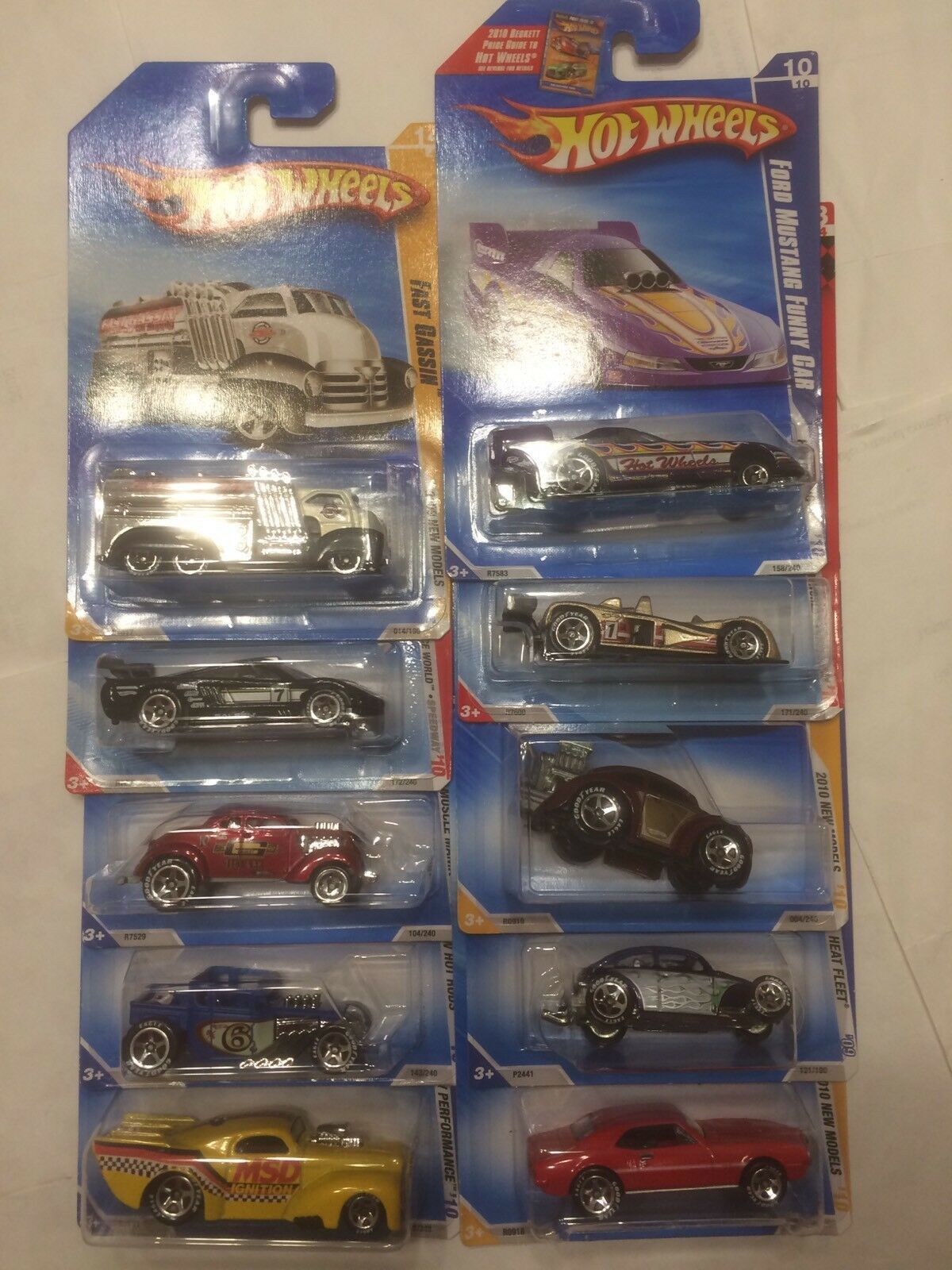 Hot Wheels 2010 Walmart Exclusive Exclusive Exclusive Goodyear Tire Cars Complete Set Of 10 3aa563