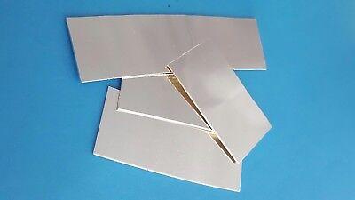 65x24 Silberblech 999,9 Feinsilber-Blech 0,25mm Dünn 95x56 64x23 mm NEU 47x24