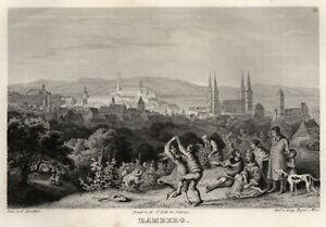 Bamberg Original Stahlstich Beyer 1840