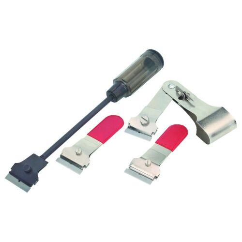 4pc Set 1 Extension Scraper Reach Handle Razor Blade Label Gasket Decal Sticker