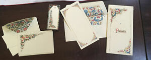 Elegant-Lot-Of-Florentine-Paper-Note-Cards-Tags-Envelopes-Made-In-Italy