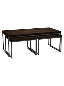 John Lewis Calia Coffee Table with Nest of 2 Tables, Dark ...