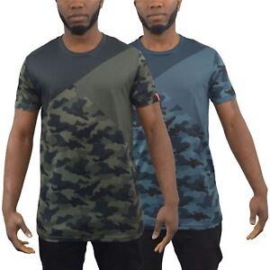 Mens T-Shirt Juice King Camo Crew Neck Tee Top
