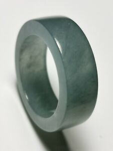 Natural-Ice-Blue-Jadeite-Jade-Band-Ring-US-SIZE-9-5