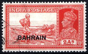 BAHRAIN-1938-41-KGVI-2-Annas-overprint-on-INDIA-stamp-SG-25-SC-25-Cat-5-Used