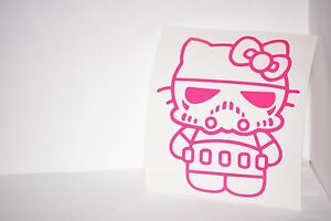 Stormtrooper-Hello-Kitty-Vinyl-Car-Laptop-Decal-Sticker-Choose-Color-Star-Wars