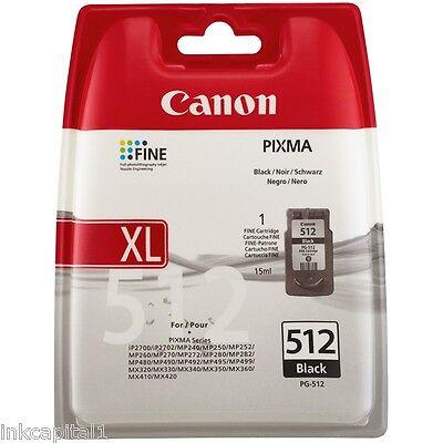1 X Canon Original Oem Pg-512, Pg512, Black Inkjet Cartridge For Mx360, Mx 360 Elegant En Sierlijk