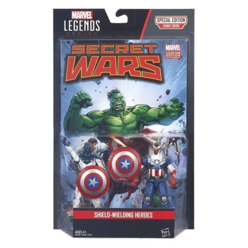 SHIELD WIELDING HEROES marvel legends series VANCE ASTRO CAPTAIN AMERICA 2 pack