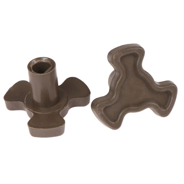 2Pcs  Microwave Oven Turntable Roller Guide Support Coupler Tray Shaft /_C
