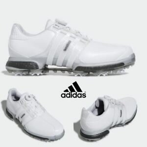 dd331e68309ff Adidas F33623 Golf Shoes Men s Tour BOA Boost X White Grey Size 4-12 ...