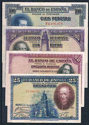 XF CONDITION SPAIN LOT 2 CONSECUTIVE 25 PTAS 1928