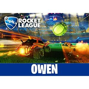 Rocket League Poster Print Personalised Gamertag Wall Art ...