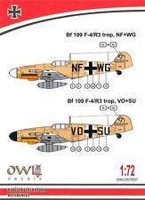 Owl Decals 1/72 MESSERSCHMITT Bf-109F-4/R3 Trop Aufklarer