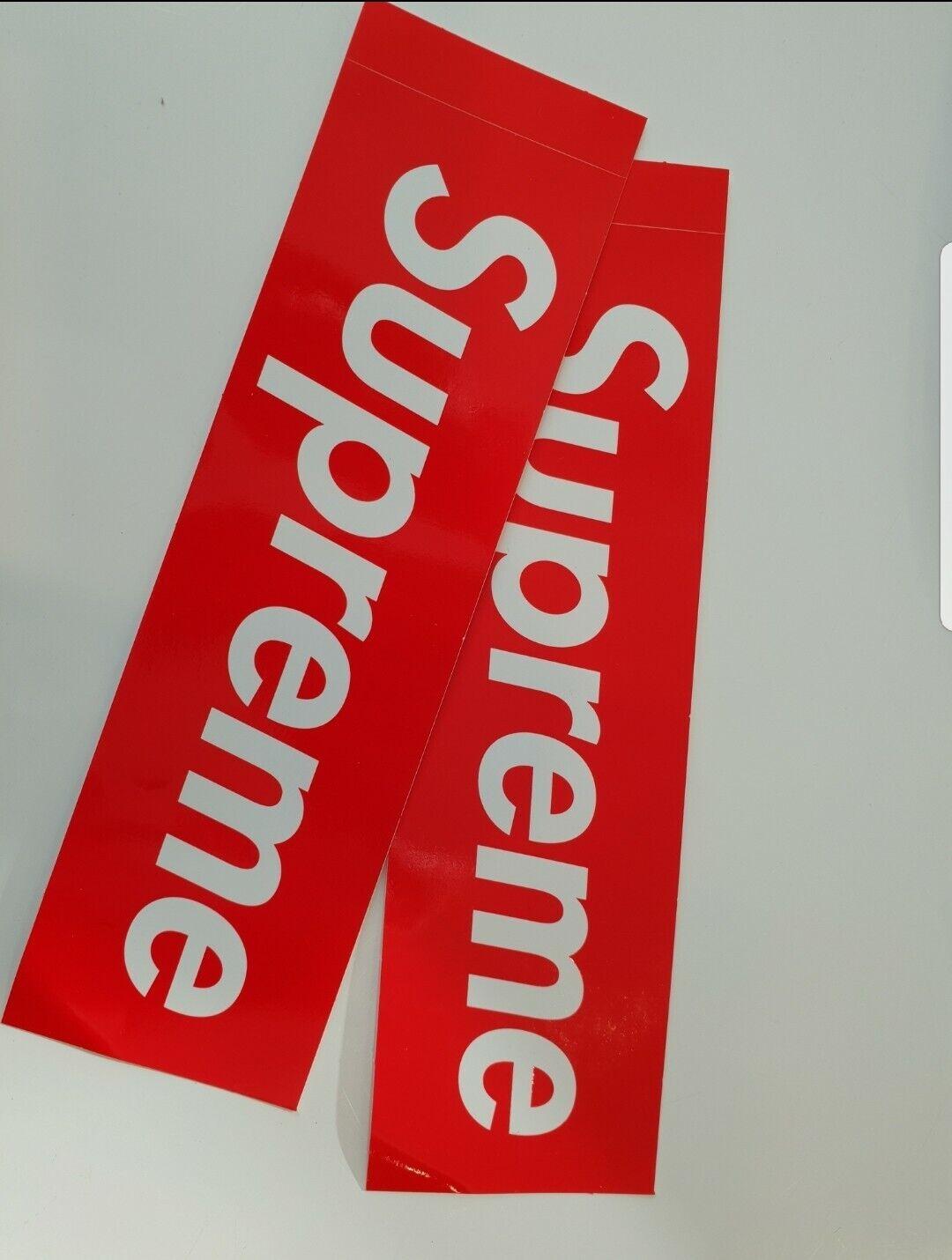 Supreme Box Logo Stickers 100% AuthenticCHEAPEST ON EBAY