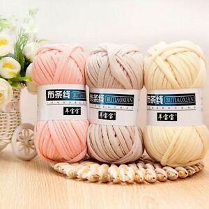 100g-Soft-Crochet-Yarn-Cloth-Hand-Knitting-Thread-Woven-Bag-Carpet-DIY-Craft