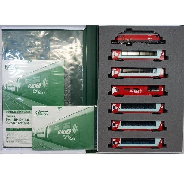 Kato 10-1145 + 10-1146 Swiss Alps Glacier Express 7 Cars Complete Set - N