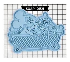 Disney Mickey /& Pluto Soap Dish Laundry /& Bath Japan import NEW Disney Store