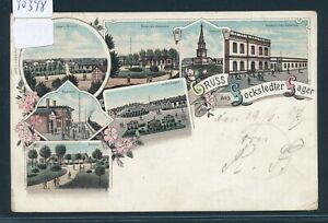 Ak Litho Lockstedt L.lager.. Bahnpost Itzehoe Effizient 30398 1897 Wrist Zug 610