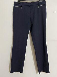 M-amp-s-Femme-Pantalon-Coupe-Droite-Avec-Stretch-Royaume-Uni-Taille-14-MEDIUM-Bleu-Jean-EXC